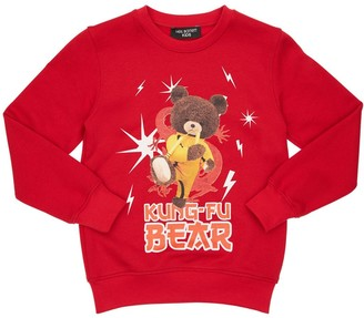 Neil Barrett Kong-Fu Bear Print Cotton Sweatshirt