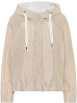 Brunello Cucinelli Coated cotton-blend jacket