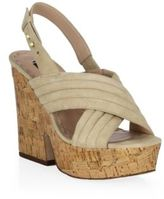 Alice + Olivia Charlize Chunky Suede Platform Sandals