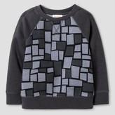 Cat & Jack Toddler Boys' Square Pattern Sweatshirt Cat & Jack - Charcoal