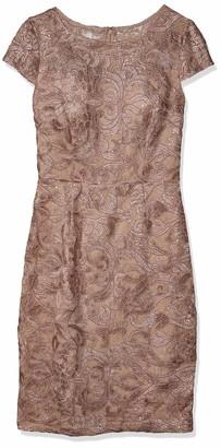 Alex Evenings Women's Short Embroidered Cap Sleeve Dress