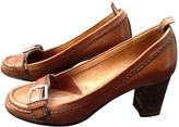 Chloé Camel Leather Flats