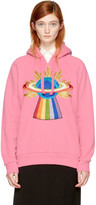 Gucci Pink Oversized Embroidered Saturn Hoodie