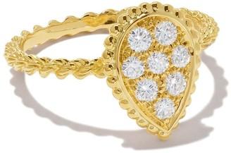 Boucheron 18kt yellow gold Diamond Serpent Boheme S motif ring