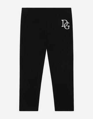 Dolce & Gabbana Interlock Leggings With Logo Patch
