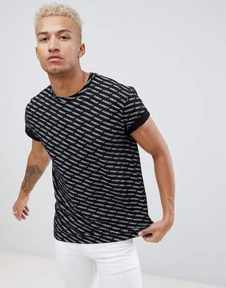 Night Addict All Over Print T-Shirt-Black