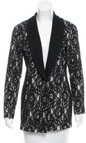 Magaschoni Lace- Accented Knit Blazer