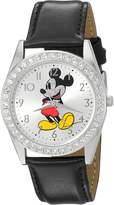Disney Men's 'Mickey Mouse' Quartz Metal Automatic Watch, Color: (Model: W002747)