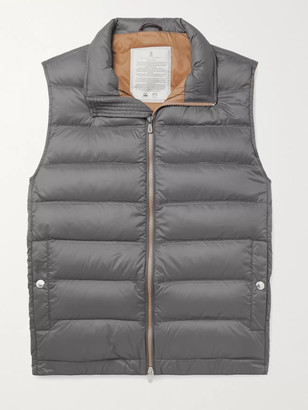 Brunello Cucinelli Quilted Nylon Down Hooded Gilet