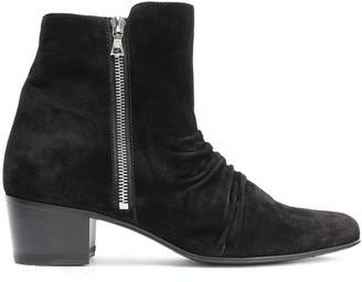 Amiri Ruched Suede Ankle Boots