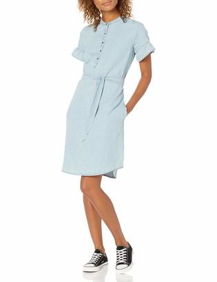 Goodthreads Amazon Brand Women's Denim Flutter-Sleeve Dress