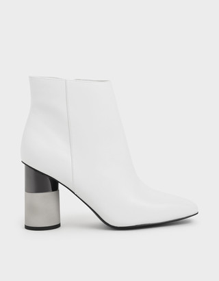Charles & Keith Concrete Heel Ankle Boots