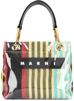 Marni glossy striped tote