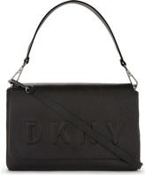 DKNY Embossed logo leather shoulder bag