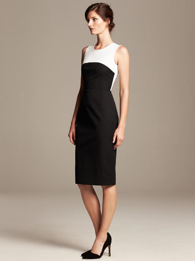 Roland Mouret Collection Colorblock Sheath Dress