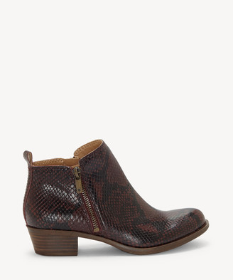 Lucky Brand Women's Basel Ankle Bootie Storm Size 5 Leather From Sole Society