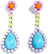 Soft powder flower stud earrings