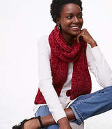 LOFT Ribbed Chenille Scarf