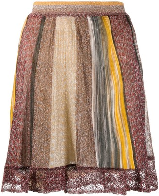 Missoni colour block A-line skirt