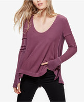 Free People Malibu High-Low Thermal Top