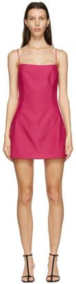 GAUGE81 Pink Silk Toyama Short Dress