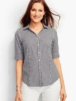 Talbots The Perfect Elbow-Sleeve Shirt-Picnic Gingham