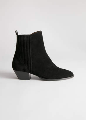 And other stories Low Suede Cowboy Boots