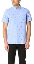 Paul Smith Short Sleeve Casual Fit Allover Parrot Shirt