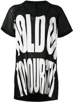 Haider Ackermann oversize print T-shirt - women - Cotton/Nylon/Rayon - S