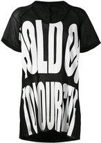 Haider Ackermann oversize print T-shirt