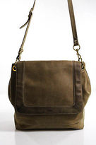 J.Crew J Crew Brown Leather Shoulder Handbag Size Large