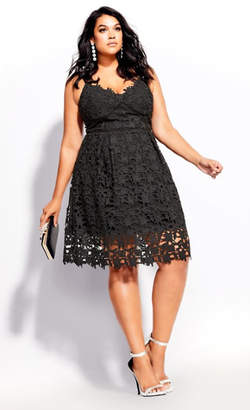 City Chic So Fancy Dress - black