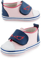 Fendi Leather Monster Low-Top Sneaker, Infant