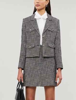 Claudie Pierlot Virginia single-breasted cotton-blend blazer