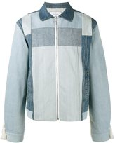 Facetasm panelled denim jacket - men - Cotton/Wool/Acrylic/Polyester - 4