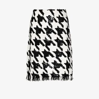 Ashish Sequinned houndstooth skirt