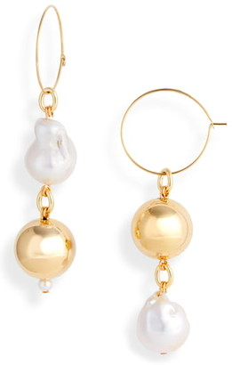 Mounser Pagoda Fruit Mismatched Pearl Earrings