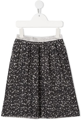 Molo Star-Print Pleated Skirt