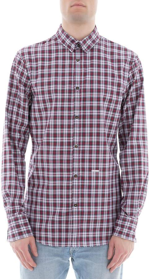DSQUARED2 Red Cotton Shirt