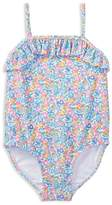 Ralph Lauren Girls' Ruffled Floral Swimsuit - Baby