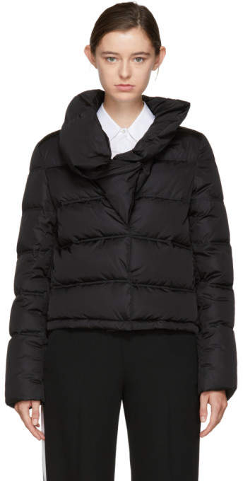Givenchy Black Down Ruffle Collar Puffer Jacket