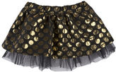 Andy & Evan Girls 2-6x Gold Brocade Dot Skirt