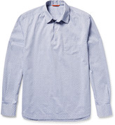 Barena - Half-placket Cotton-jacquard Shirt