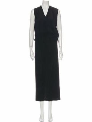 Zero Maria Cornejo Silk Long Dress w/ Tags Black