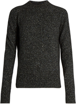 Joseph Tweed-effect round-neck long-sleeved sweater
