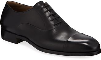 Magnanni Men's Leather Cap-Toe Oxford Shoes