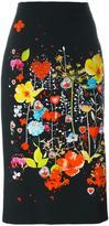 Piccione Piccione Piccione.Piccione floral print pencil skirt