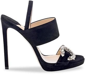 Jimmy Choo Saphie Embellished Suede Sandals