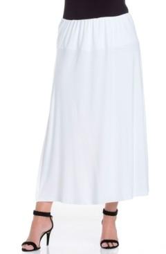 24seven Comfort Apparel Women's Plus Size Maxi Skirt