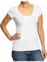 Old Navy Women's Ruched V-Neck Tees